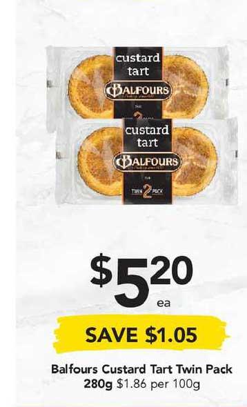 Drakes Balfours Custard Tart Twin Pack 280g