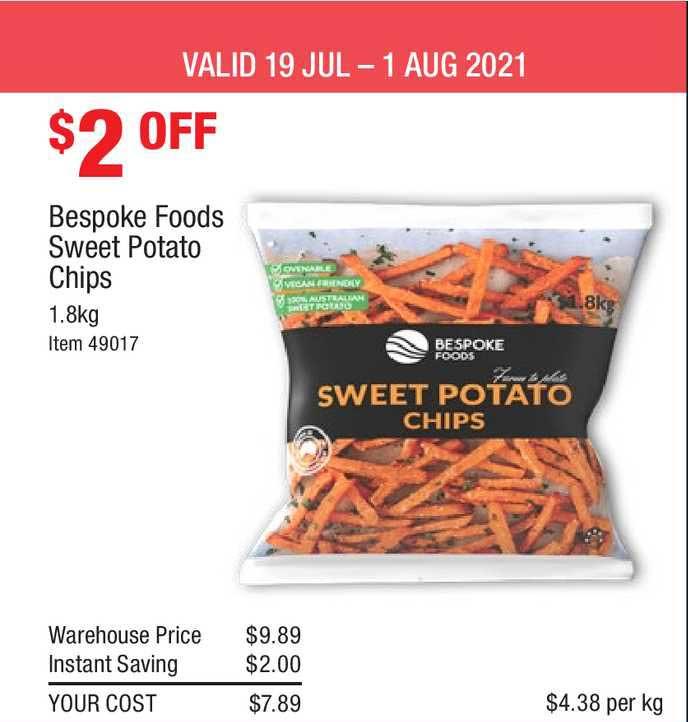 Costco Bespoke Foods Sweet Potato Chips