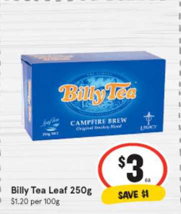 IGA Billy Tea Leaf 250g