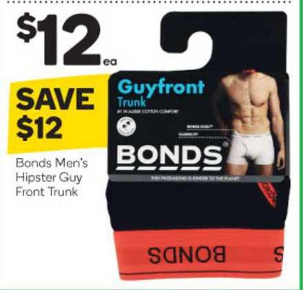 Woolworths Bonds Men's Hipster Guy Front Trunk