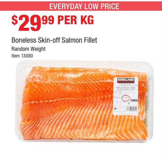 Costco Boneless Skin-off Salmon Fillet