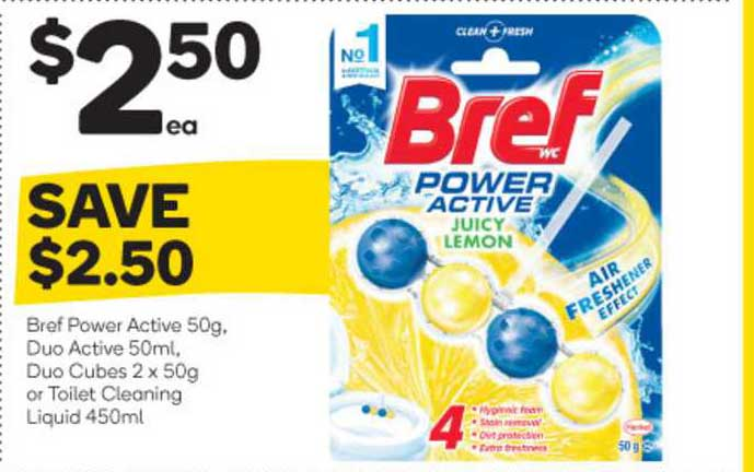 Woolworths Bref Power Active Duo Active Duo Cubes Or Toilet Cleaning Liquid