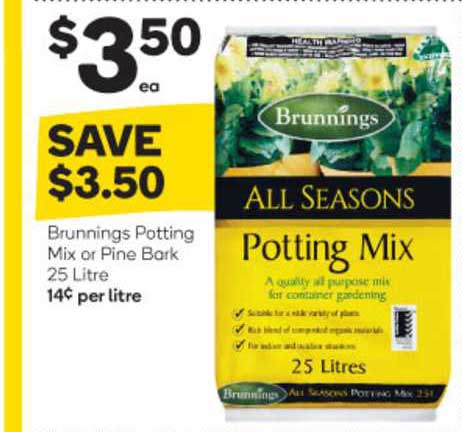 Woolworths Brunnings Potting Mix Or Pine Bark