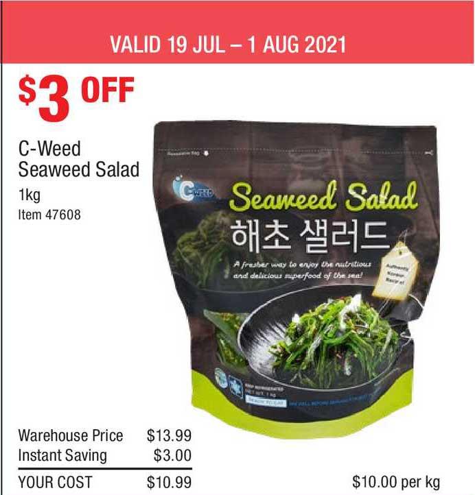 Costco C-weed Seaweed Salad