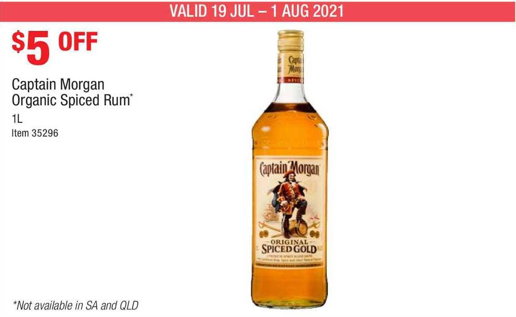 Costco Captain Morgan Orgnaic Spiced Rum