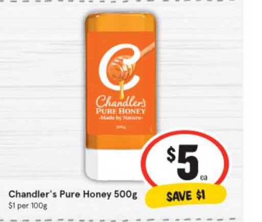 IGA Chandler's Pure Honey 500g