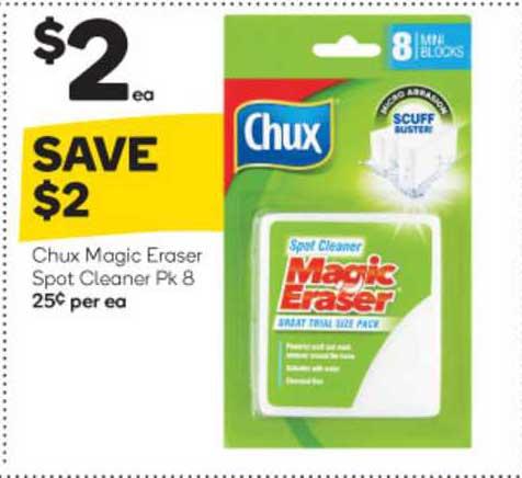 Woolworths Chux Magic Eraser Spot Cleaner Pk 8
