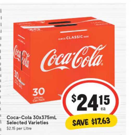 IGA Coca-Cola 30x375mL