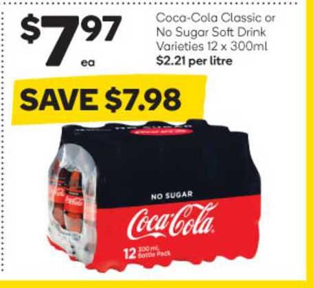 Woolworths Coca Cola Classic Or No Sugar Soft Drink Varieties