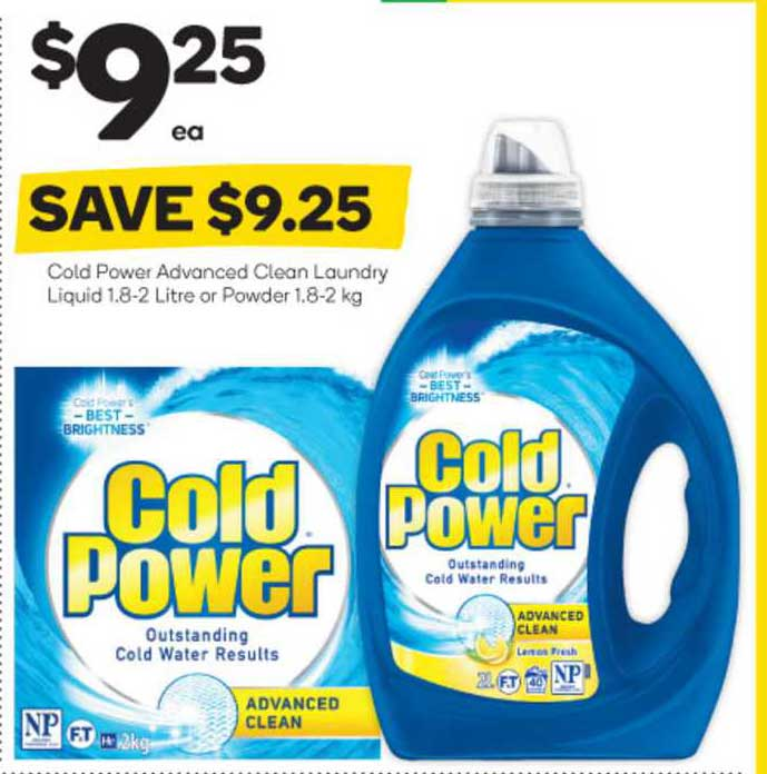 Woolworths Cold Power Advanced Clean Loundry Liquid Or Powder