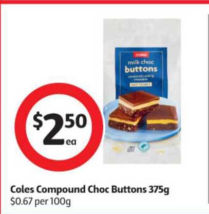 Coles Coles Compound Choc Buttons