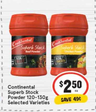 IGA Continental Superb Stock Powder 120-130g