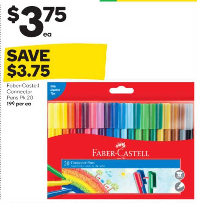 Woolworths Faber Castell Connector Pens Pk 20