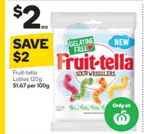 Woolworths Fruit Tella Lollies