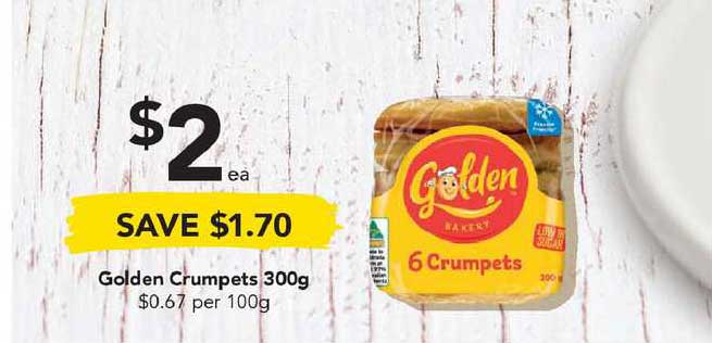 Drakes Golden Crumpets 300g