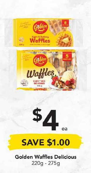 Drakes Golden Waffles Delicious