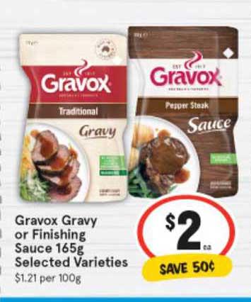 IGA Gravox Gravy Or Finishing Sauce 165g