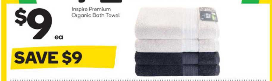 Woolworths Inspire Premium Organic Bath Towel