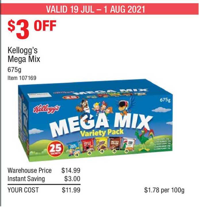 Costco Kellogg's Mega Mix
