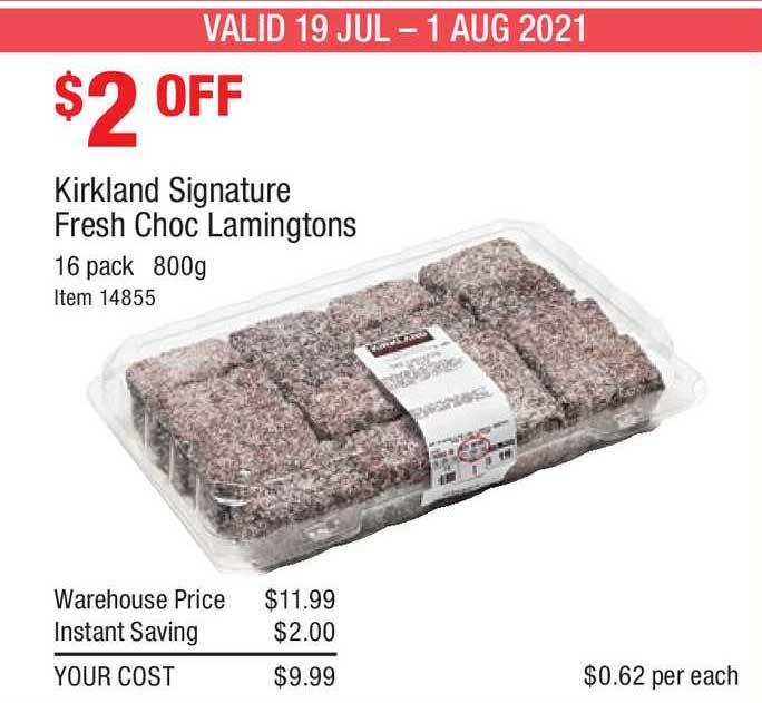 Costco Kirkland Signature Fresh Choc Lamingtons