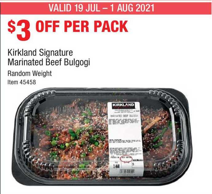 Costco Kirkland Signature Marinated Beef Bulgogi