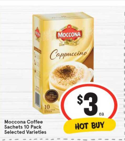 IGA Moccona Coffee Sachets 10 Pack