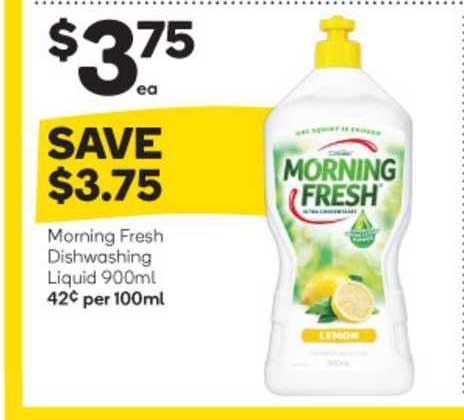 Woolworths Morning Fresh Dishwashing Liquid