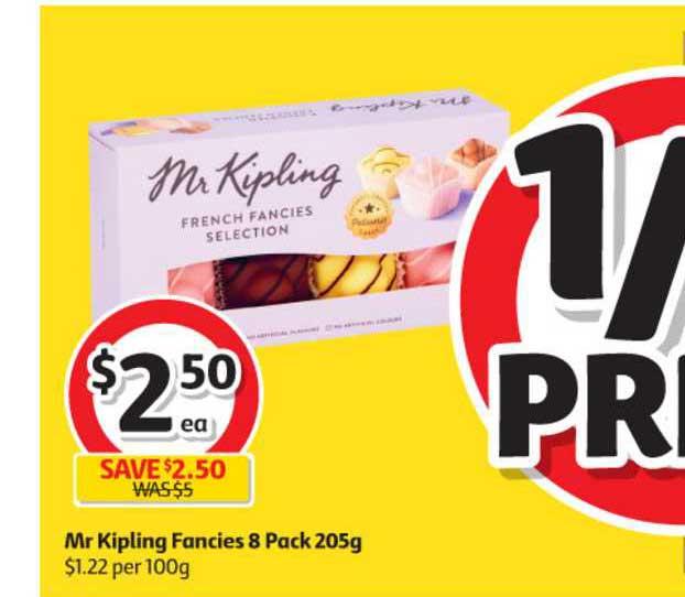 Coles Mr Kipling Fancies 8 Pack 205g
