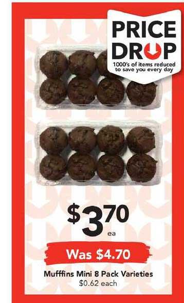 Drakes Muffins Mini 8 Pack Varieties