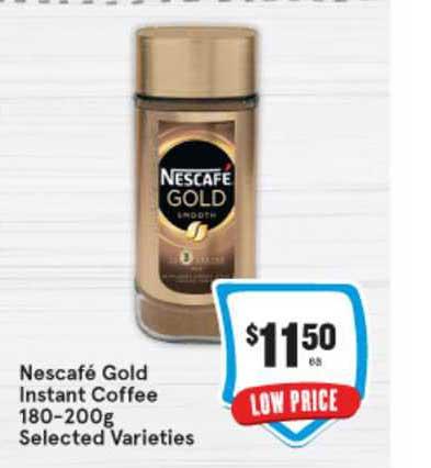 IGA Nescafé Gold Instant Coffee 180-200g