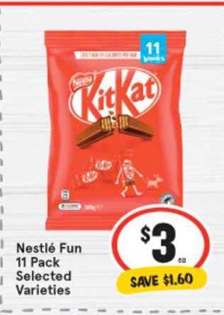 IGA Nestlé Fun 11 Pack