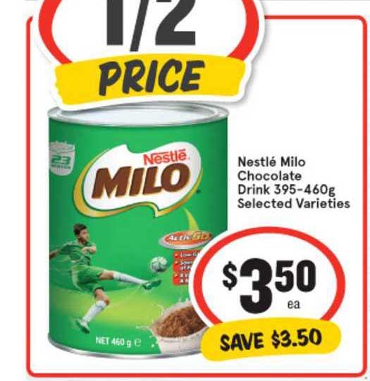 IGA Nestlé Milo Chocolate Drink 395-460g