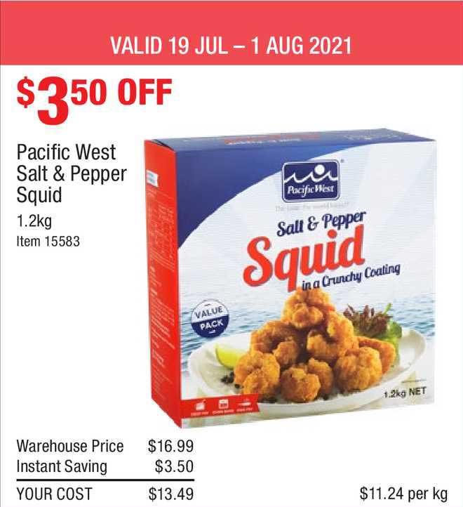 Costco Pacific West Salt & Pepper Squid