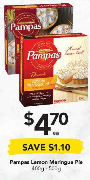 Drakes Pampas Lemon Meringue Pie