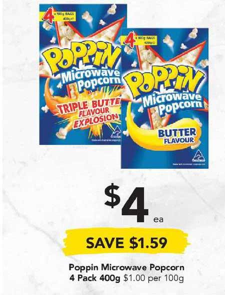 Drakes Poppin Microwave Popcorn