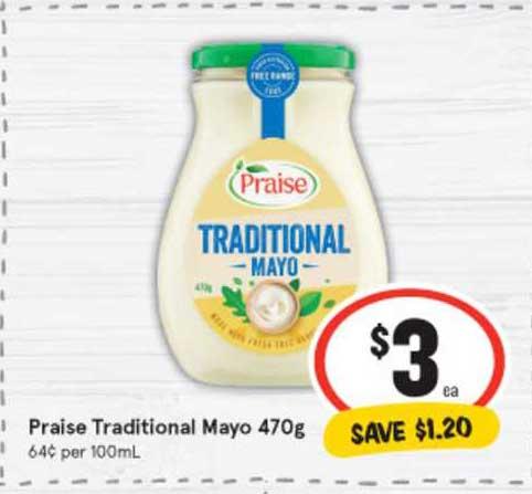 IGA Praise Traditional Mayo 470g