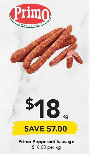 Drakes Primo Pepperoni Sausage