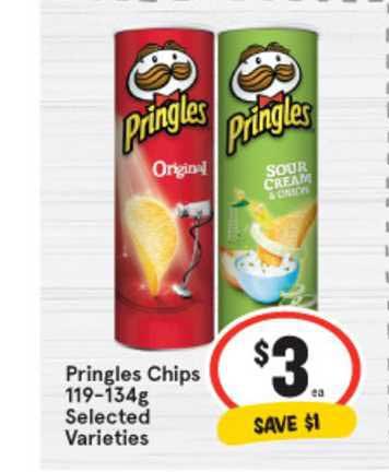 IGA Pringles Chips 119-134g