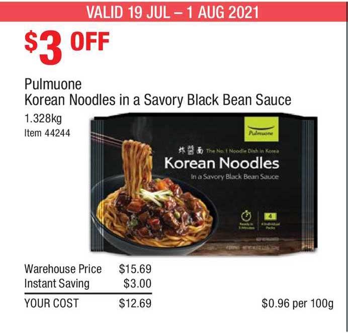 Costco Pulmuone Korean Noodles In A Savory Black Bean Sauce