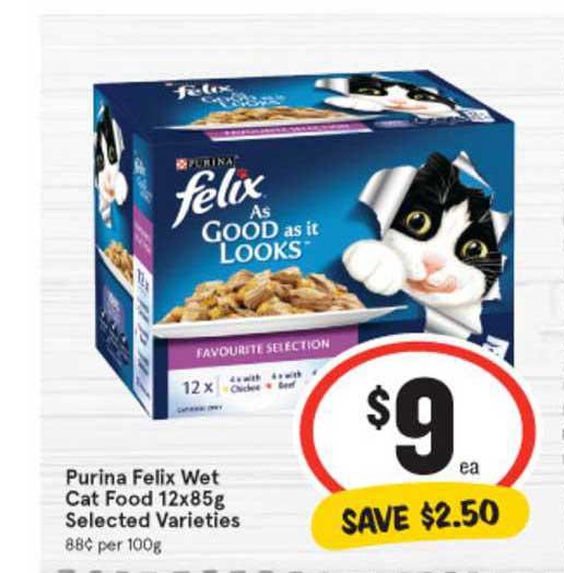 IGA Purina Felix Wet Cat Food 12x85g