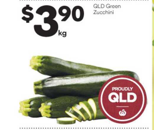 Woolworths Qld Green Zucchini