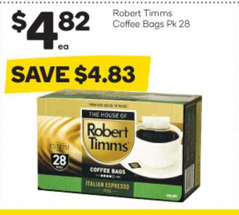 Woolworths Robert Timms Coffee Bags