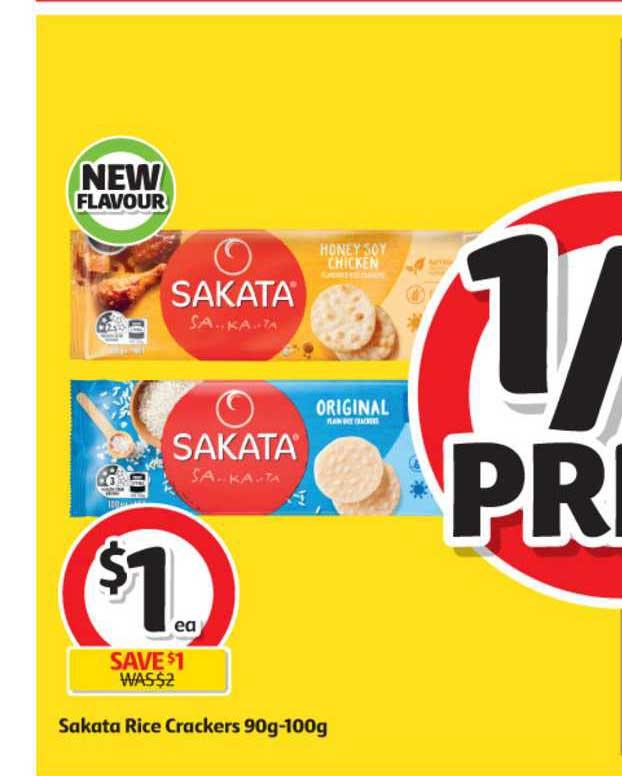 Coles Sakata Rice Crackers 90g-100g