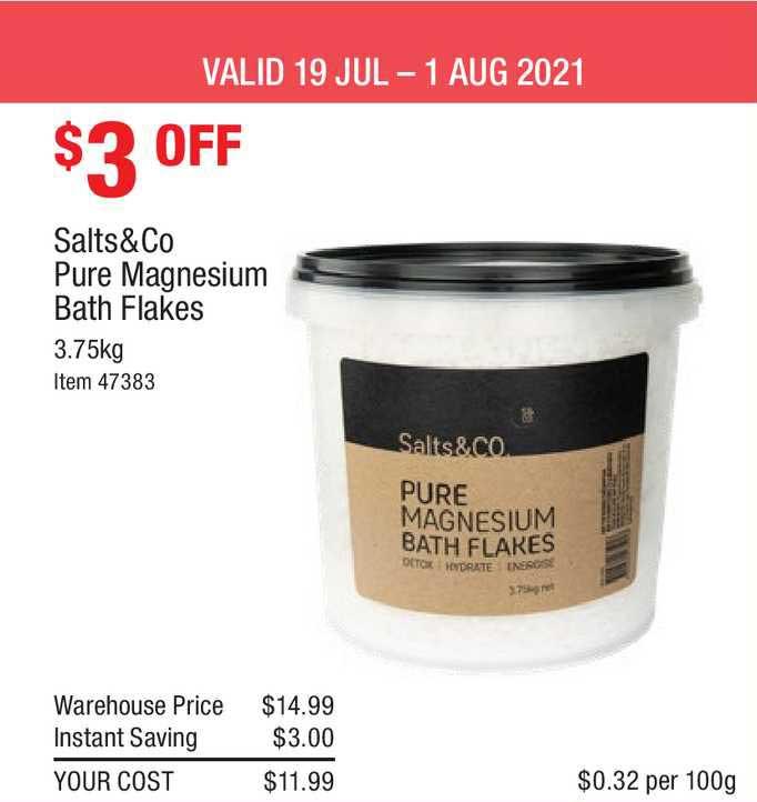 Costco Salts&co Pure Magnesium Bath Flakes
