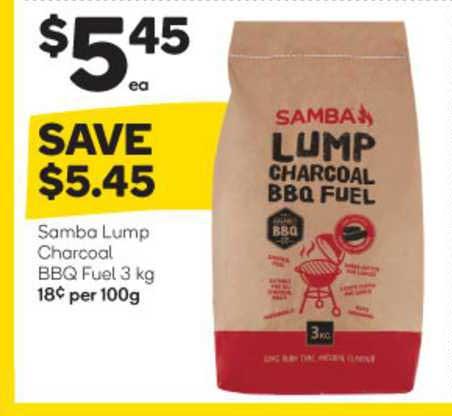 Woolworths Samba Lump Charcoal Bbq Fuel