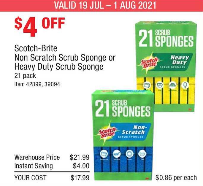 Costco Scotch-brite Non Scratch Scrub Sponge Or Heavy Duty Scrub Sponge