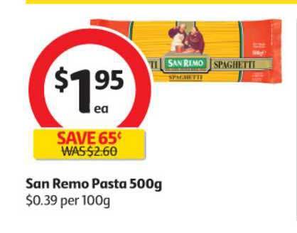 Coles Sen Remo Pasta