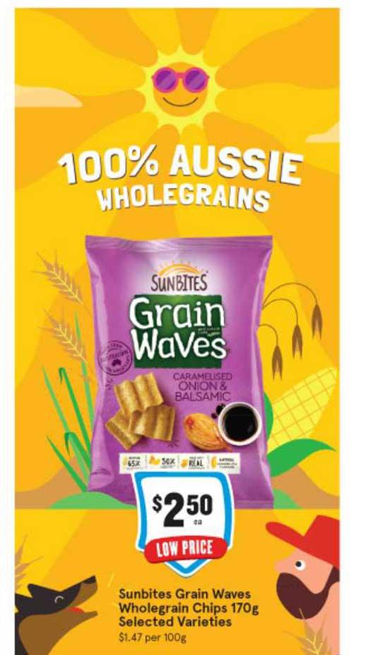 IGA Sunbites Grain Waves Wholegrain Chips 170g