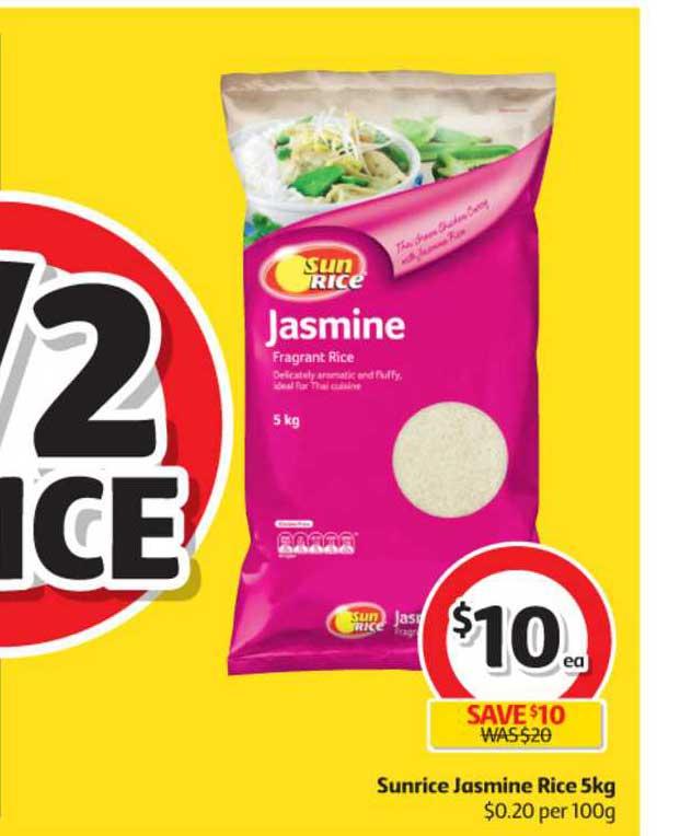 Coles Sunrice Jasmine Rice
