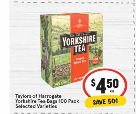 IGA Taylors Of Harrogate Yorkshire Tea Bags 100 Pack